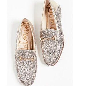 Sam Edelman Loraine Molten Gold Glitter Loafers